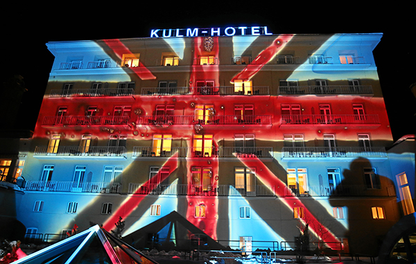 22. St. Moritz Gourmet Festival: Lichtinstallation