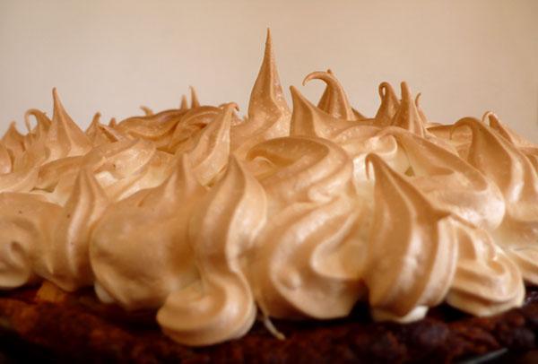 Meringue gebacken