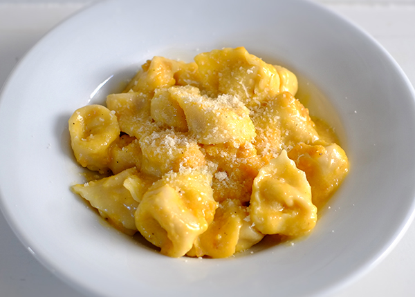 Tortelli zucca crema
